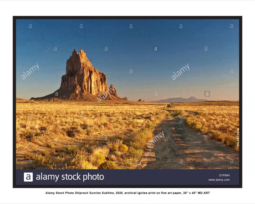 Alamy Stock Photo Shiprock Sunrise Sublime,