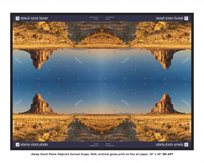 Alamy Stock Photo Shiprock Surreal Scape