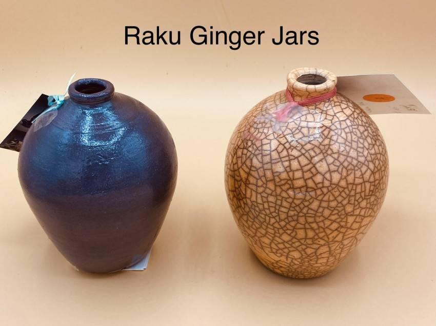 Raku Crackle Pots