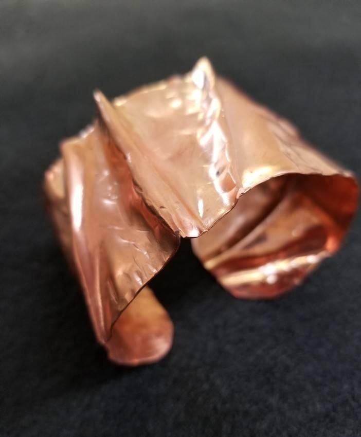 Copper Fold Formed Bracelet