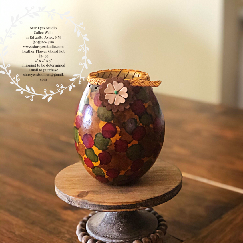 Leather Flower Gourd Pot