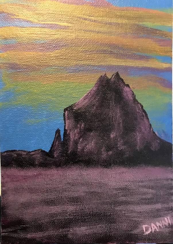 Shiprock Sunset
