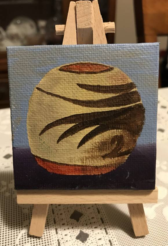 Pottery on easel