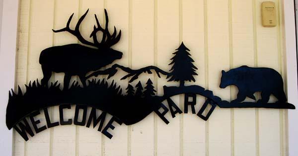 Elk Bear Welcome Pard