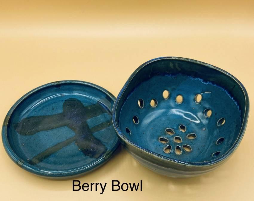 Blue Berry Bowl Colander