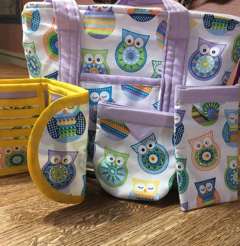 Purse Set #2 – Multicolored Owls