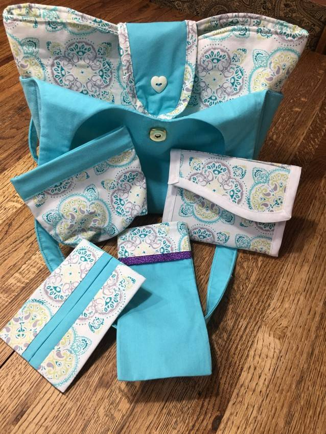 Purse Set #5 – Light Turquoise