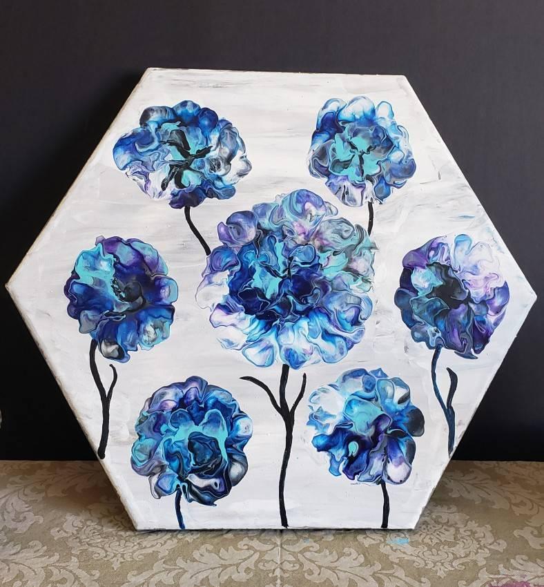 7 blue flowers