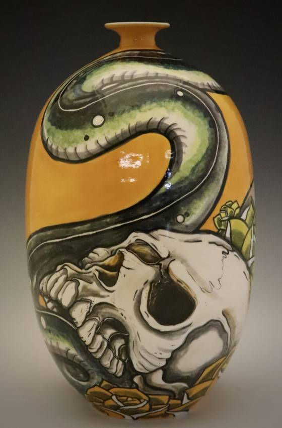 Two Skulls and the Serpent