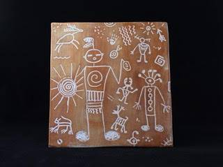 Native Petroglyph Tile