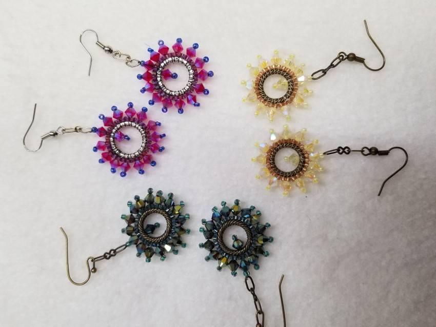 Ferris Wheel Earrings – Swarovski crystals