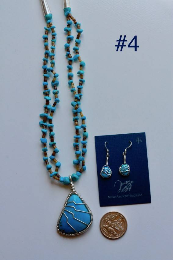 Turquoise Set - Sterling Silver