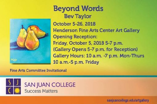 Beyond Words Art Exhibit