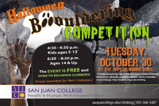 Halloween Boo-ouldering Competition