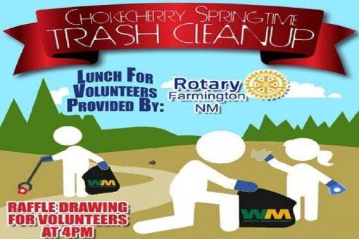Chokecherry Springtime Trash Cleanup