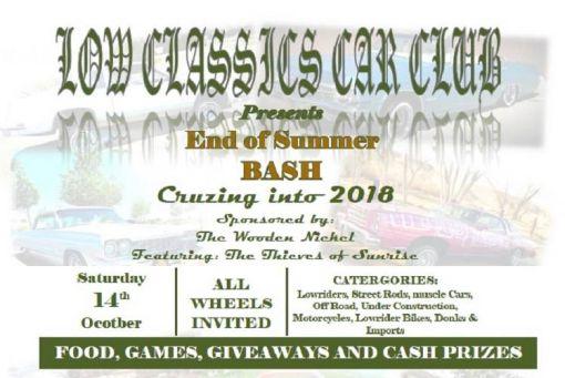 End Of Summer Bash - Cruizing into 2018