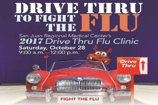 San Juan Regional Medical Center's Drive Thru Flu Clinic