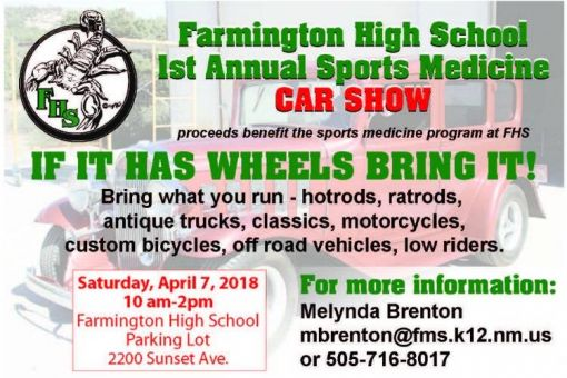 Farmington High School Annual Sports Medicine Car Show