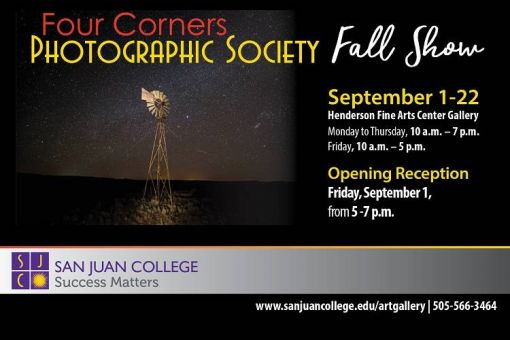 Four Corners Photographic Society Fall Art Exhibit