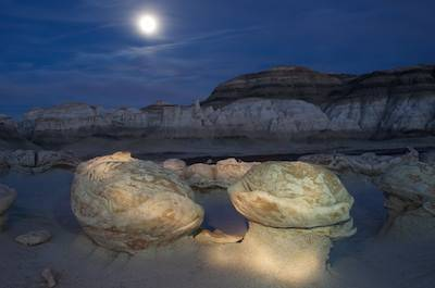 Full Moon Bisti Badlands Hike