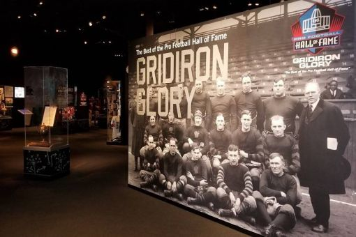 Gridiron Glory: Pro Football Hall of Fame Exhibit