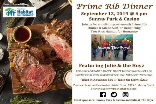 Prime Rib Dinner for Habitat for Humanity