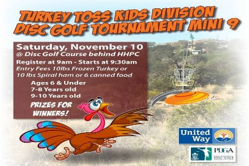 Kids Division Turkey Toss Disc Golf