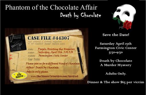 A Chocolate Affair- Phantom of the Chocolate Affair - Death by Chocolate