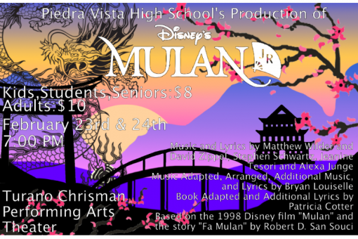 Mulan Jr. Presented by Piedra Vista High School