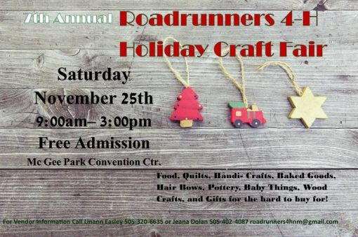 Roadrunner 4-H Holiday Craft Fair