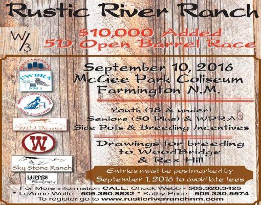 Rustic River Ranch 10K Barrel Race