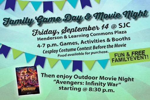 San Juan College Family Game Day and Movie Night