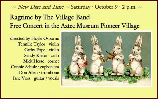 Pioneer Village Concerts: The Village Band plays ragtime