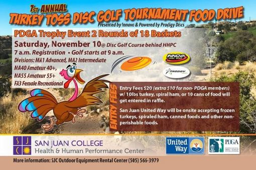 Turkey Toss Disc Golf  Tournament Food Drive