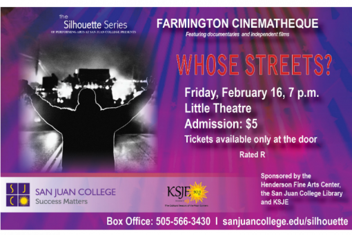 Farmington Cinematheque Series presents Whose Streets?