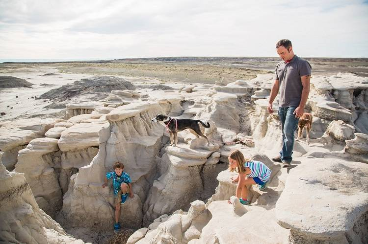 Family Time Amidst Bisti Hoodoos